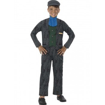 Horrible Histories Miner Costume Fancy Dress