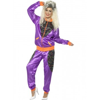 Retro Shell Suit Costume, Ladies Fancy Dress
