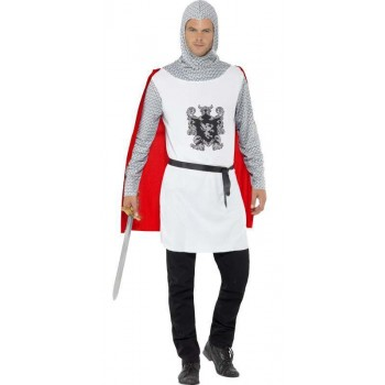 Men'S Medieval Knight Fancy Dress Costume