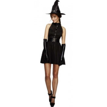 Ladies Black Fever Maleficent Bewitching Vixen Fancy Dress Costume