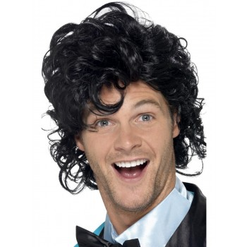 80s Prom King Perm Wig Fancy Dress Accessory