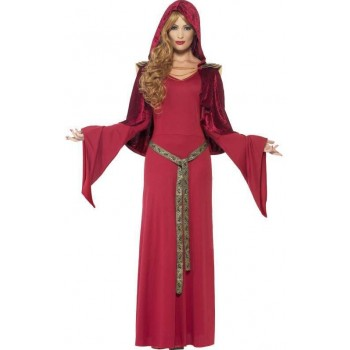 Ladies Red High Priestess Fancy Dress Costume
