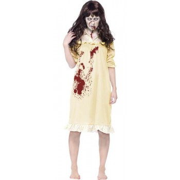 Ladies Yellow Zombie Sinister Dreams Halloween Fancy Dress Costume