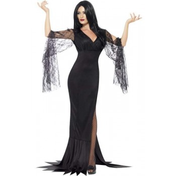 Ladies Black Immortal Soul Witch Halloween Fancy Dress Costume