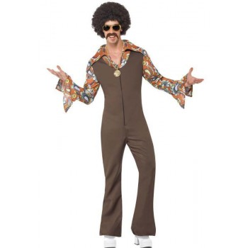 Men'S 70'S Groovy Boogie Dude Fancy Dress Costume