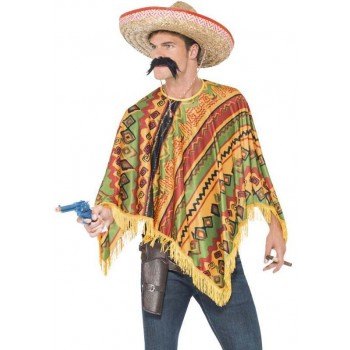 Men'S Instant Mexican Bandit Fancy Dress Costume