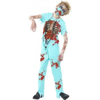 Boys Blue Zombie Surgeon  (Fancy Dress Costume)