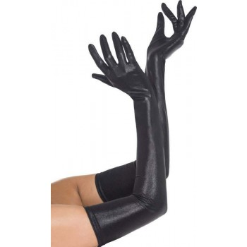 Ladies Black Gloves,Wet Look (Fancy Dress Accessory)