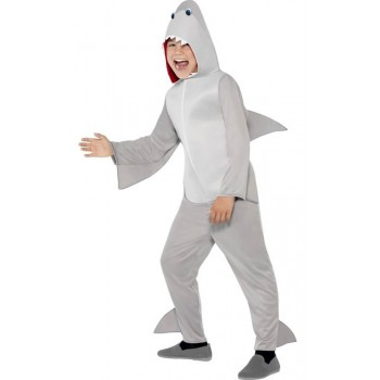 Childs Grey Shark All in One Fancy Dress Costume