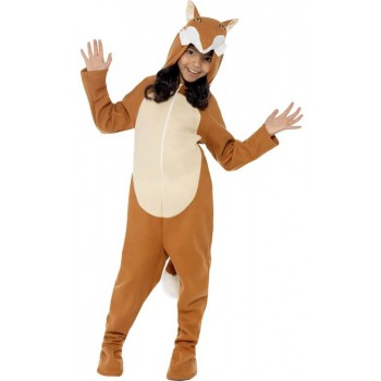 Childs Brown Fox Onesie Fancy Dress Costume