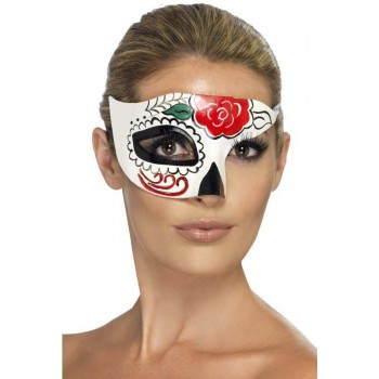 Unisex Mexican Day Of The Dead Sugar Skull Halloween Fancy Dress Eyemask