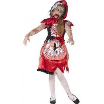 Girl'S Little Miss Zombie Hood Halloween Fancy Dress Costume