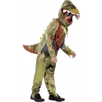 Boy'S Deluxe Pre Historic Deathly Dinosaur Halloween Fancy Dress Costume