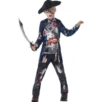 Boy'S Deluxe Jolly Rotten Pirate Captain Halloween Fancy Dress Costume