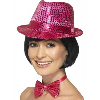 Sequin Trilby Hat Fancy Dress Accessory