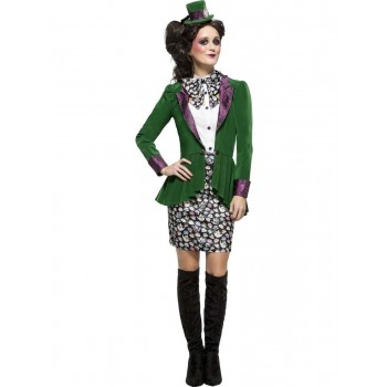 Fever Eccentric Hatter Costume Fancy Dress