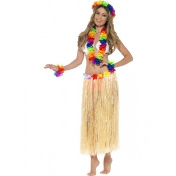 Rainbow Hawaiian Set Fancy Dress Accessory
