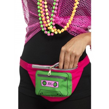 80s Bumbag Fancy Dress Accessory