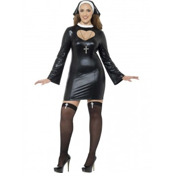 Curves Nun Costume Fancy Dress