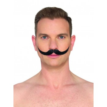 The English Moustache Black Fancy Dress Accessory