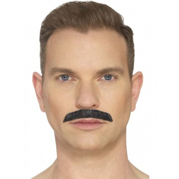 Iconic Rock Star Black Moustache Fancy Dress Accessory