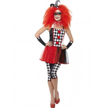 Twisted Harlequin Costume Fancy Dress