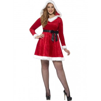 Curves Miss Santa Costume Fancy Dress