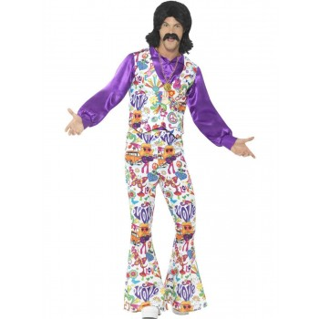 60s Groovy Hippie Costume Fancy Dress