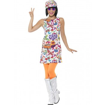 60s Groovy Chick Costume Fancy Dress