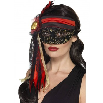 Masquerade Pirate Eyemask Fancy Dress Accessory