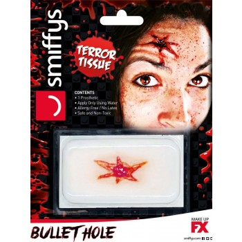 Horror Wound Transfer, Bullet Hole Wound Fancy Dress Accessory