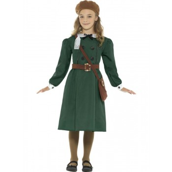 WW2 Evacuee Girl Costume Fancy Dress