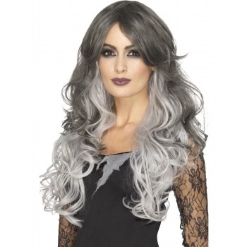 Deluxe Gothic Bride Wig Fancy Dress Accessory