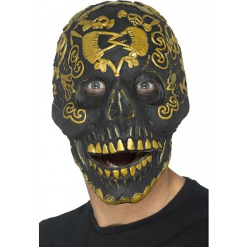 Deluxe Masquerade Skull Mask Fancy Dress Accessory