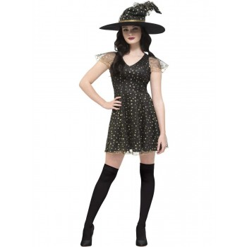 Fever Moon & Stars Witch Costume Fancy Dress