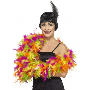Deluxe Boa, Mixed Neon Fancy Dress Accessory