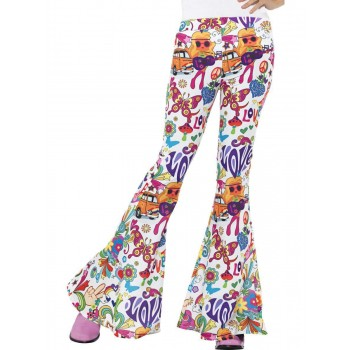 Groovy Flared Trousers, Ladies Fancy Dress Costume