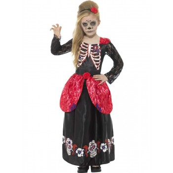 Deluxe Day of the Dead Girl Costume Fancy Dress