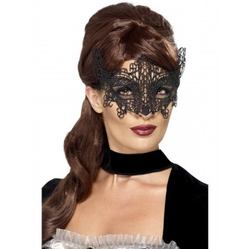 Embroidered Lace Filigree Swirl Eyemask Fancy Dress Accessory