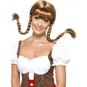 Bavarian Babe Wig, Plaited Fancy Dress Accessory
