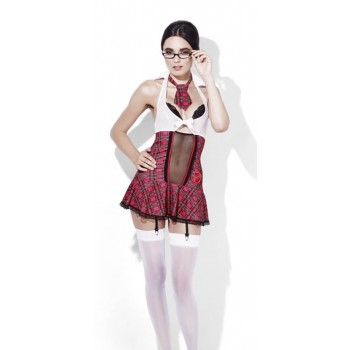 Ladies Sexy Fever Student Grade A Fancy Dress Costume