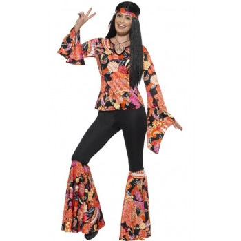 Ladies 60's Willow The Hippie Fancy Dress Costume