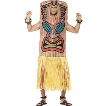 Mens Tiki Totem Pole Fancy Dress Costume