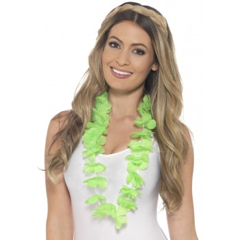 Neon Green Hawaiian Lei Fancy Dress Accessory