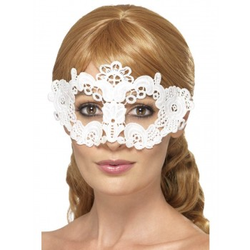 Embroidered Lace Filigree Floral Eyemask Fancy Dress Accessory