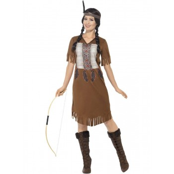 Native American Inspired Warrior Princess Costume Fancy Dress