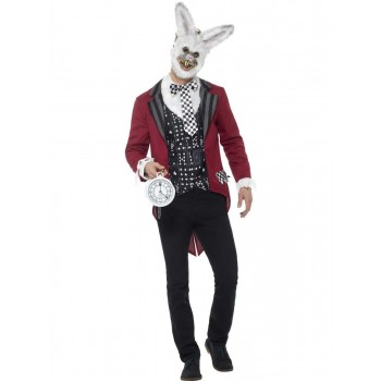 Deluxe White Rabbit Costume Fancy Dress