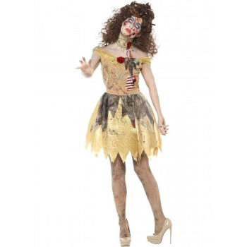 Zombie Golden Fairytale Costume Fancy Dress