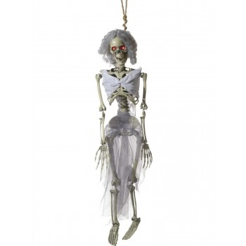 Animated Hanging Bride Skeleton Decoration Fancy Dress Accessory