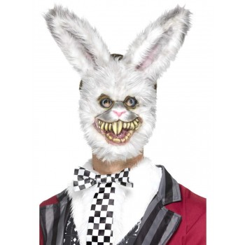 White Rabbit Mask Fancy Dress Accessory